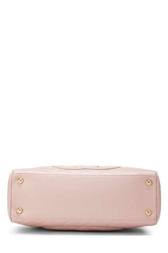 Pink Quilted Caviar Bowler Mini, , large image number 4