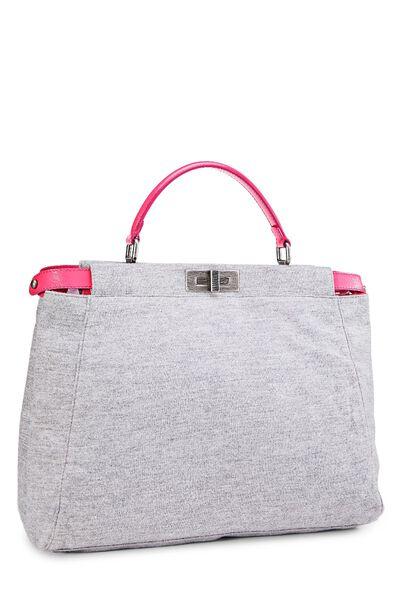 Pink & Grey Jersey Peekaboo, , large