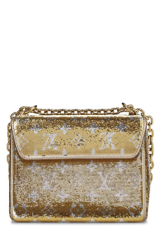Gold Monogram Sequin Exceptional Twist PM, , large image number 4