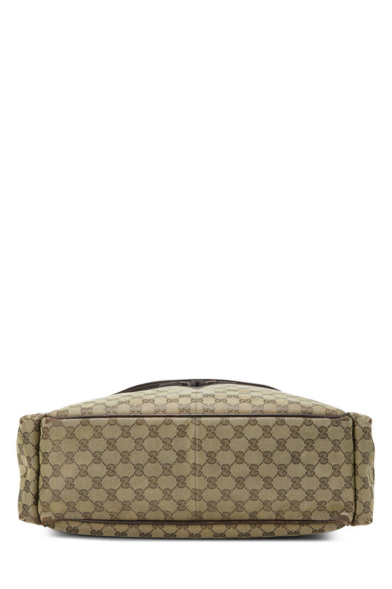 Green GG Canvas Diaper Bag, , large image number 4