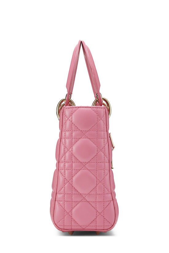 Pink Cannage Quilted Lambskin Lady Dior Small, , large image number 2