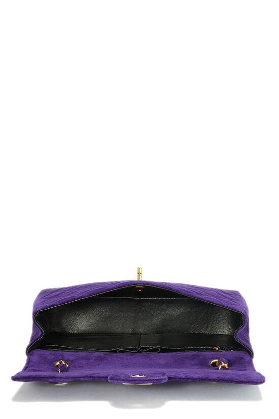 Purple Quilted Velour Magazine Flap Medium, , large image number 5
