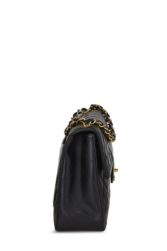 Black Quilted Lambskin Half Flap Maxi, , large image number 2