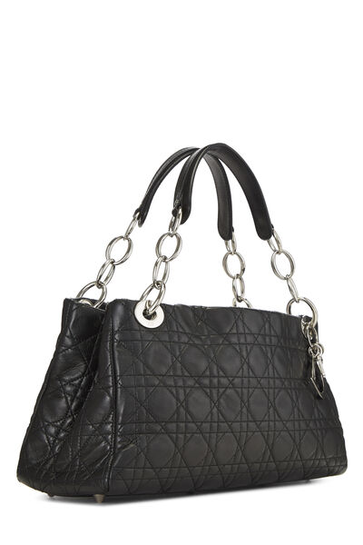 Black Cannage Quilted Lambskin East West, , large
