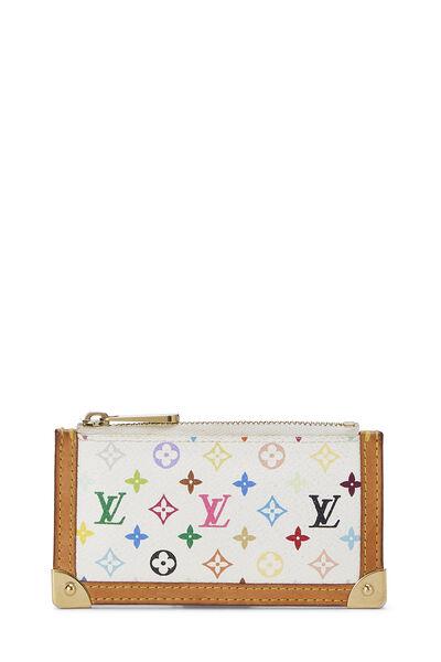 Takashi Murakami x Louis Vuitton White Monogram Multicolore Pochette Clefs