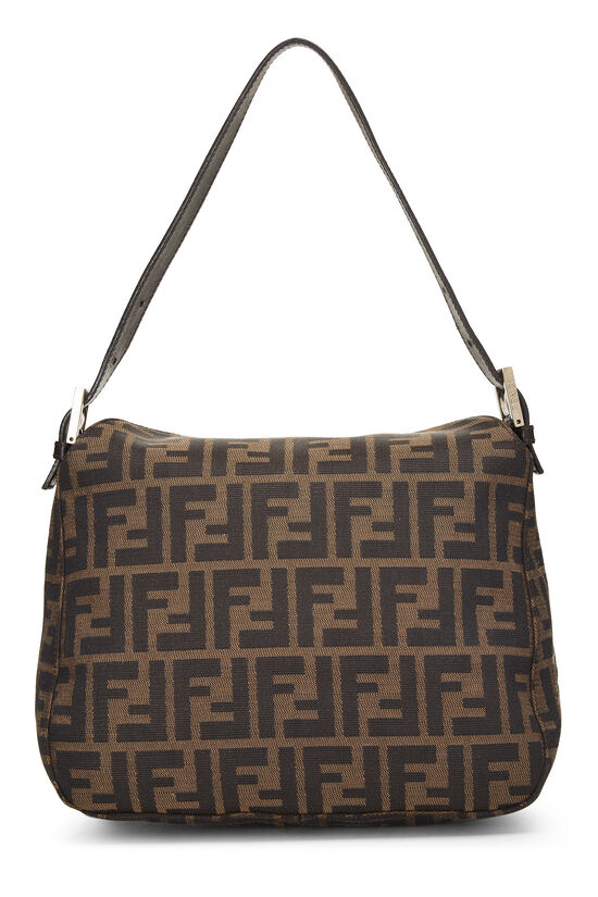 Brown Zucca Canvas Shoulder Bag, , large image number 3