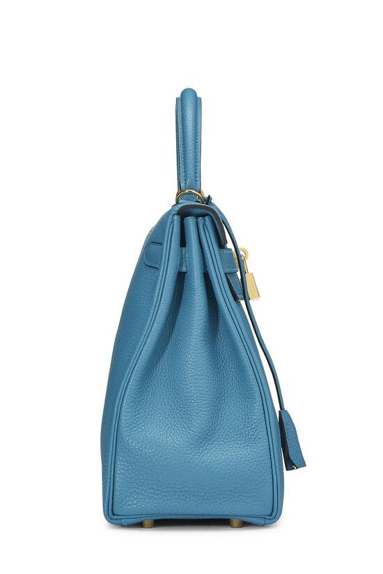 Turquoise Blue Togo Kelly Retourne 32, , large image number 2
