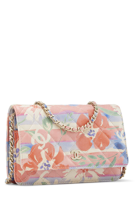 Multicolor Floral Quilted Lambskin Wallet on Chain (WOC), , large image number 1