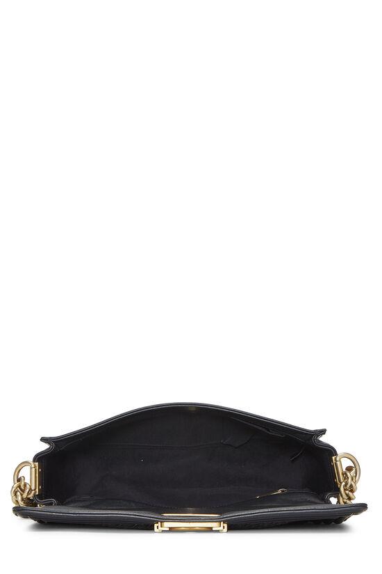 Black Woven Calfskin Reverso Boy Bag Medium, , large image number 6