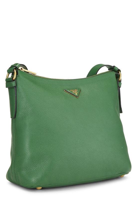 Green Vitello Daino Shoulder Bag, , large image number 2