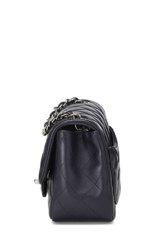 Navy Quilted Lambskin Classic Square Flap Mini, , large image number 2