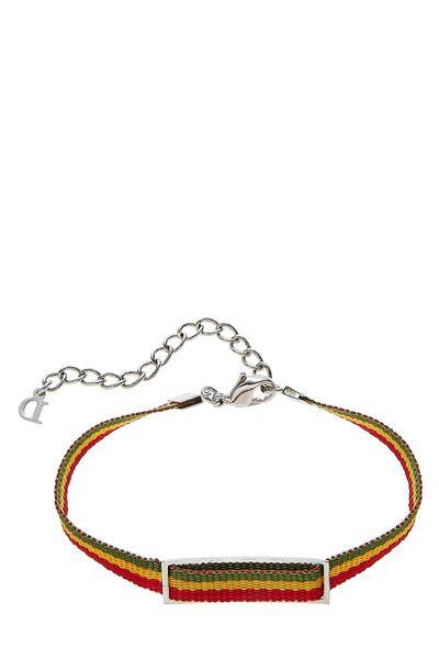 Multicolor Rasta Ribbon Bracelet, , large