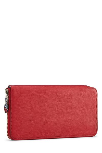 Rouge Casaque Epsom Silk-In Azap Wallet, , large