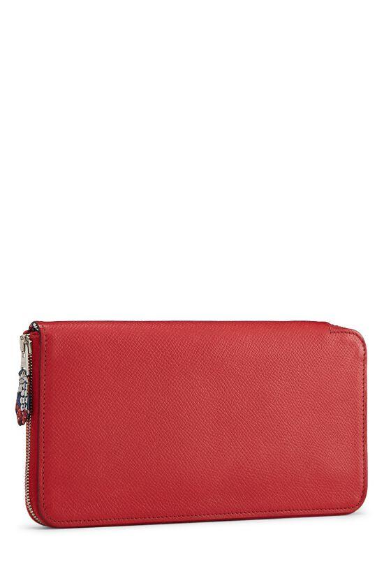 Rouge Casaque Epsom Silk-In Azap Wallet, , large image number 1