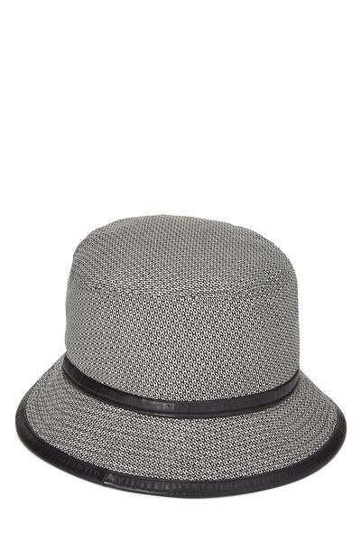 Black Wool Logo Bucket Hat