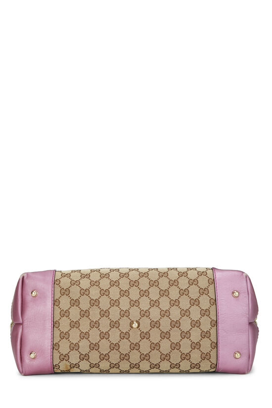 Pink GG Canvas Heart Bit Tote, , large image number 4