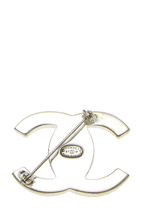 Silver 'CC' Turnlock Pin Large, , large image number 1