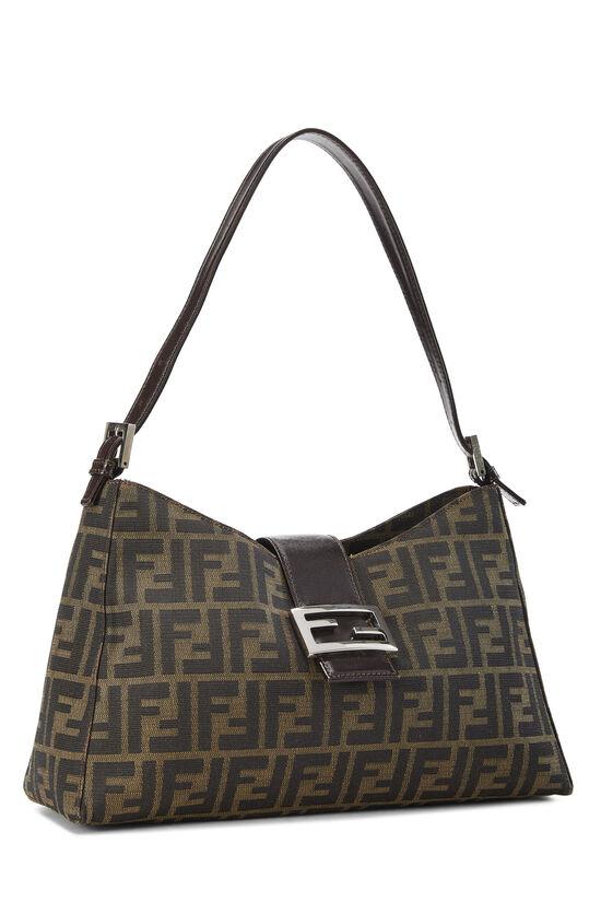 Brown Zucca Canvas Shoulder Bag, , large image number 1