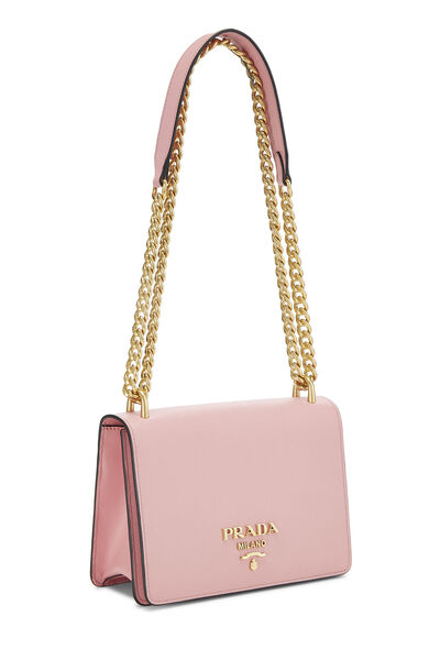 Pink Saffiano Pattina Crossbody, , large
