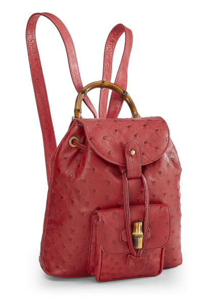 Red Ostrich Bamboo Backpack Mini, , large
