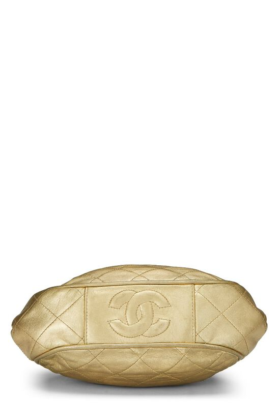 Metallic Gold Quilted Lambskin Shoulder Bag Mini, , large image number 4