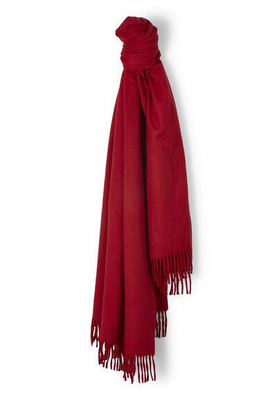 Red Cashmere Fringe Stole