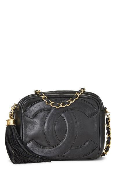 Black Lambskin 'CC' Camera Bag Mini
