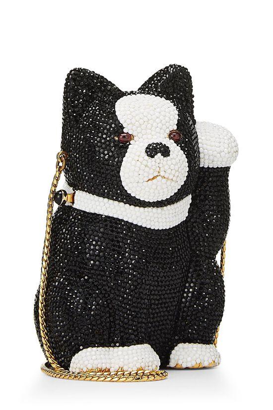 Black & White Swarovski Crystal Cat Minaudière, , large image number 1