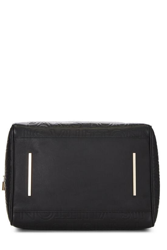 Black Embossed Leather Souple Speedy Cube, , large image number 4