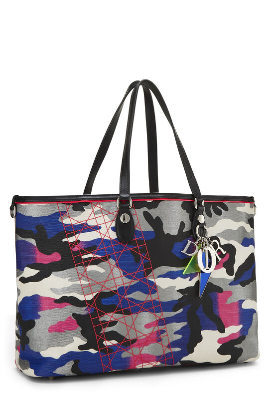 Anselm Reyle x Christian Dior Multicolor Camouflage Coated Canvas Tote, , large image number 1
