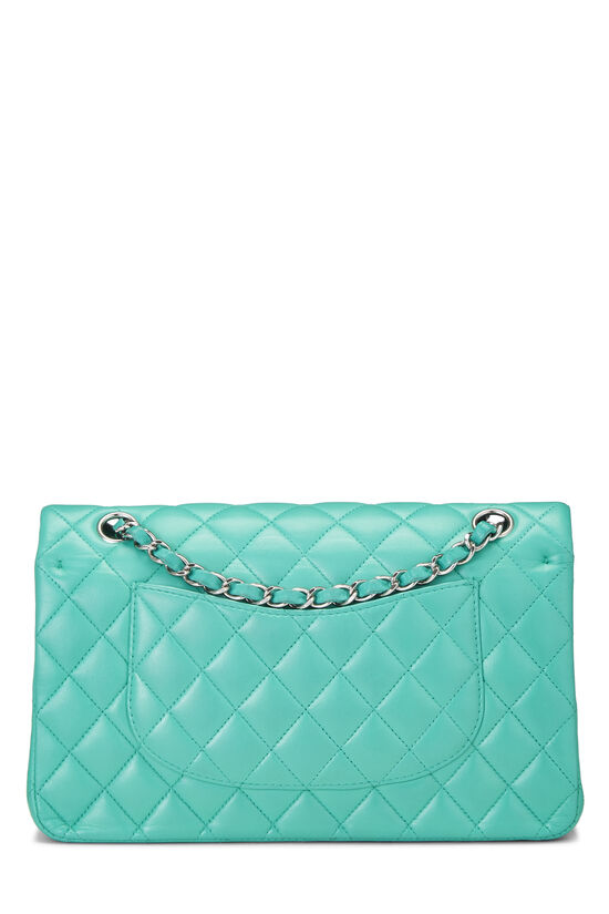 Green Quilted Lambskin Classic Double Flap Medium, , large image number 3