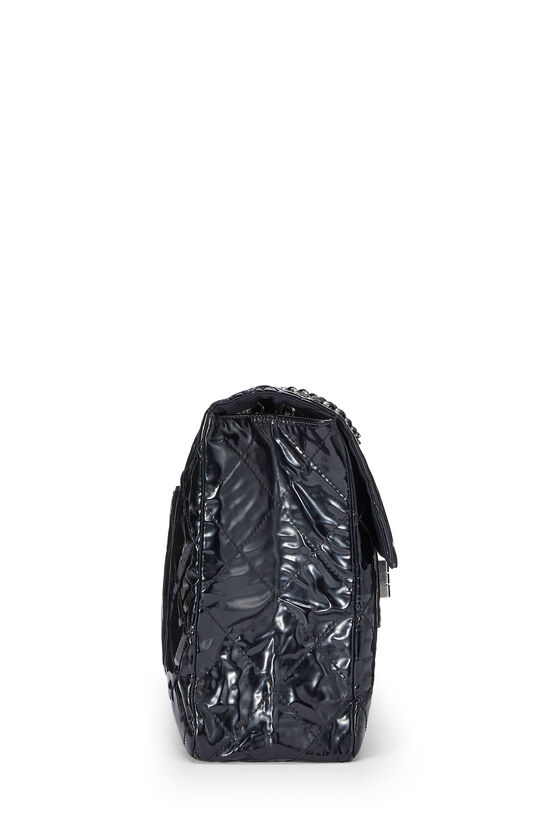 Black Quilted Patent Leather Reissue Flap Bag XL, , large image number 2