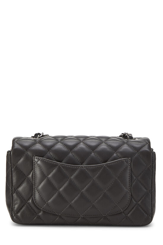 Charcoal Quilted Lambskin Classic Flap Mini, , large image number 3