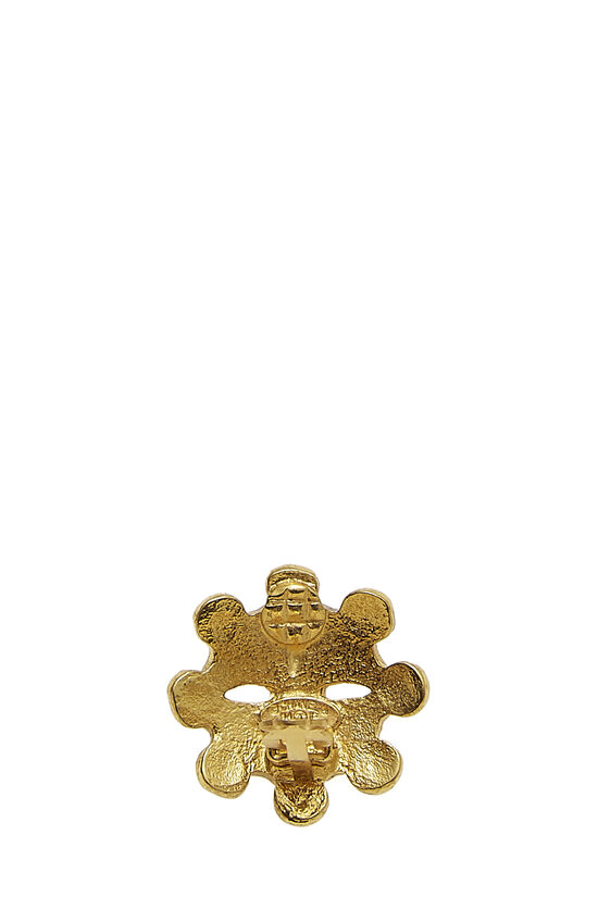 Gold CC Wheel Earrings, , large image number 2