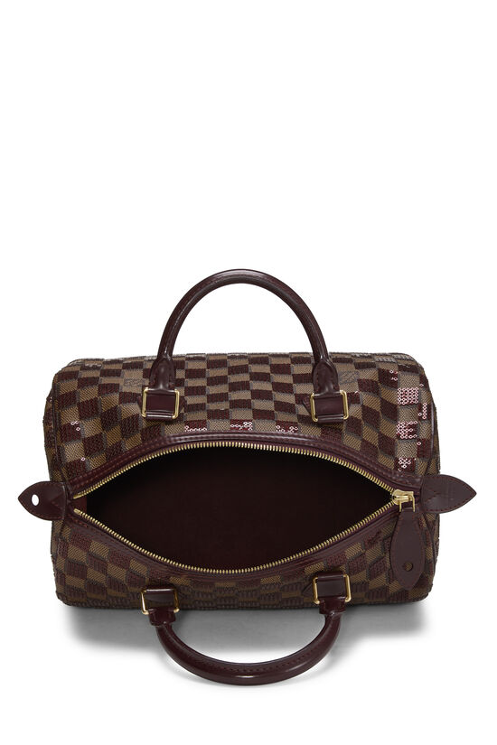 Red Damier Paillettes Speedy 30, , large image number 5