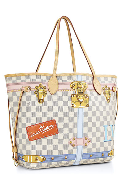 Pink Damier Azur Trunk Neverfull MM NM, , large