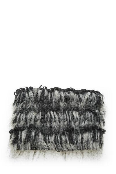 Black & Grey Fantasy Fur Snood, , large