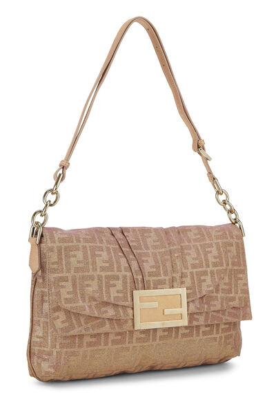 Pink Glitter Zucca Lurex Mia Flap Bag Large, , large
