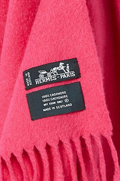 Pink Cashmere Scarf, , large