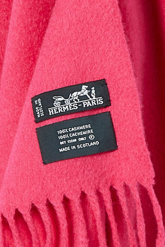 Pink Cashmere Scarf, , large image number 1