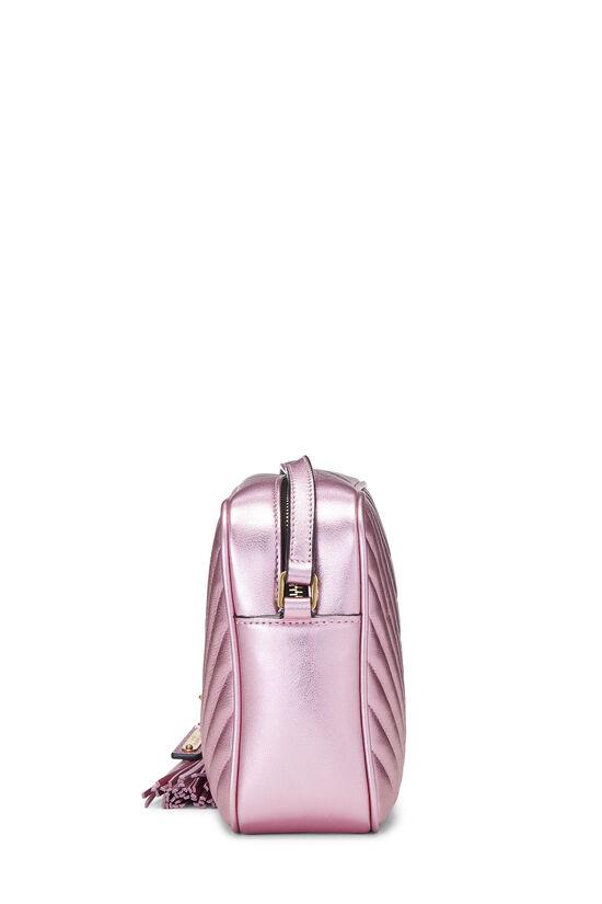 Metallic Pink Quilted Calfskin Lou Camera Bag, , large image number 3