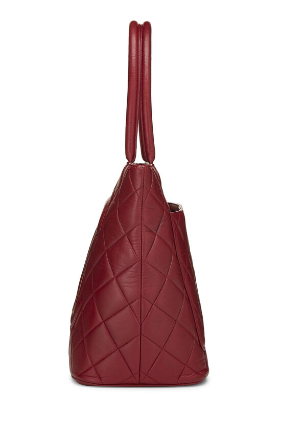 Red Quilted Lambskin Medallion Tote, , large image number 2