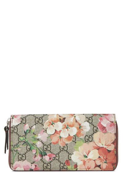 Pink GG Blooms Supreme Canvas Wallet