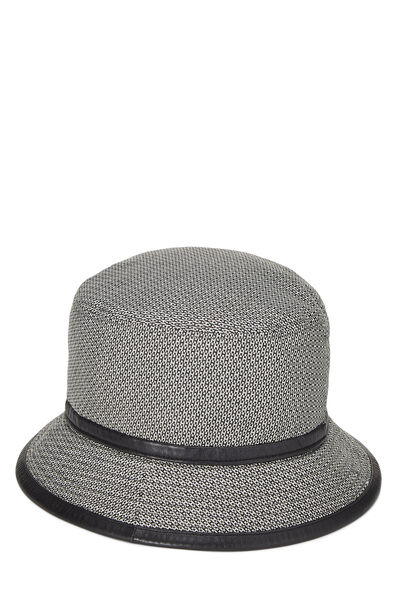 Black Wool Logo Bucket Hat, , large