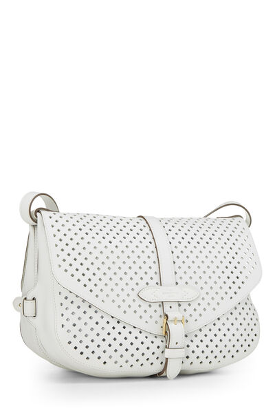 White Perforated Leather Saumur 30, , large