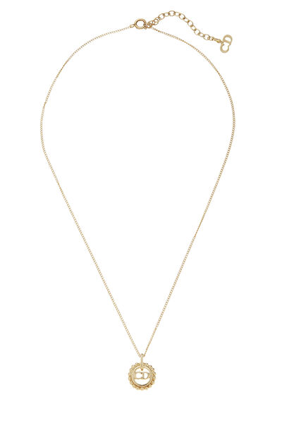 Gold Logo Necklace Small
