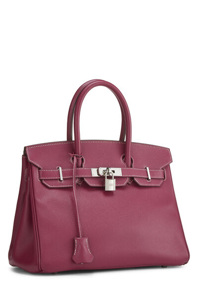 Limited Edition Tosca & Rose Tyrien Epsom Candy Birkin 30, , large