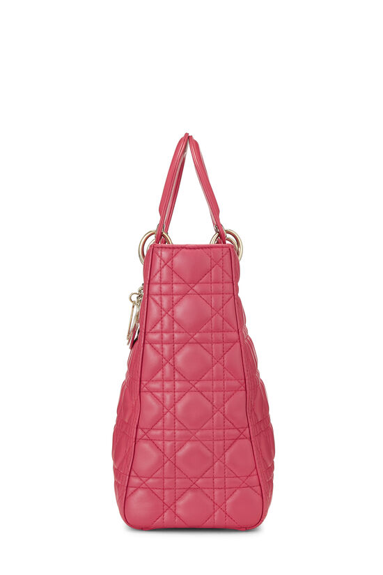 Pink Cannage Quilted Lambskin Lady Dior Large, , large image number 3