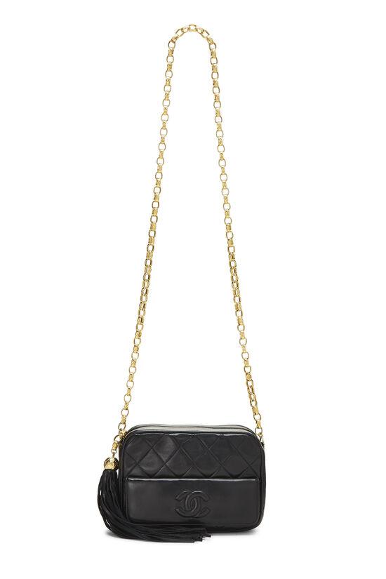 Black Quilted Lambskin Pocket Camera Bag Mini, , large image number 6