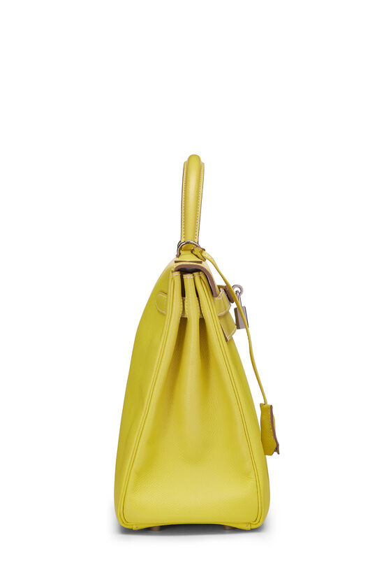 Limited Edition Lime & Gris Perle Epsom Candy Kelly Retourne 32, , large image number 2